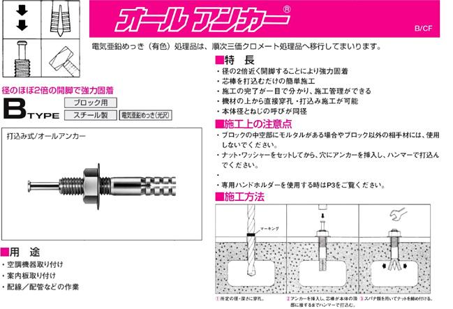アンカー オール 芯棒打込み式アンカー オールアンカー